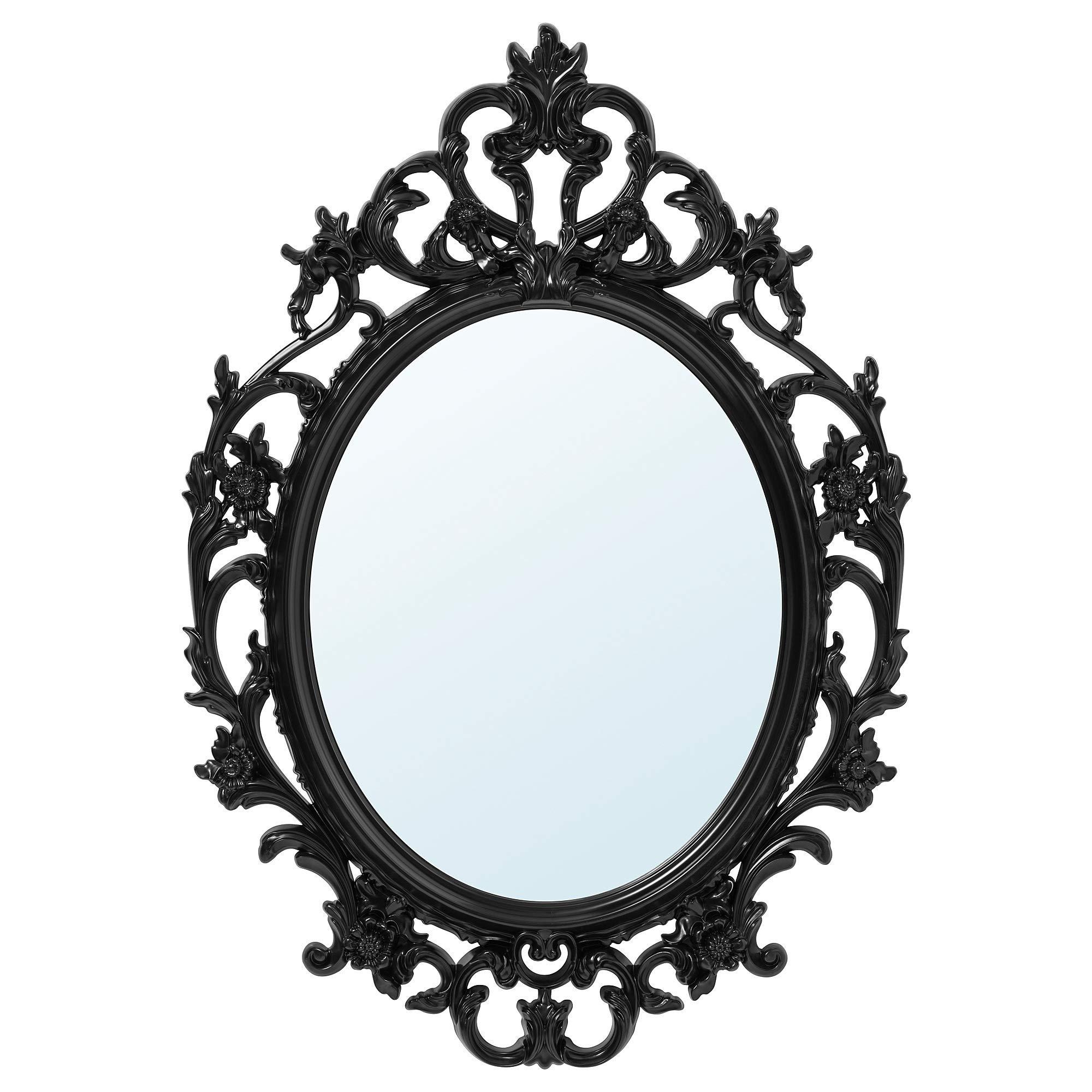 Ikea 402 137 59 Ung Drill Mirror Oval Black Wall Mounted Mirrors Amazon Com Au