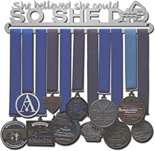 Allied Medal Hangers - She Believed She Could So She Did - Swimming Figure - Multiple Size Options Available!