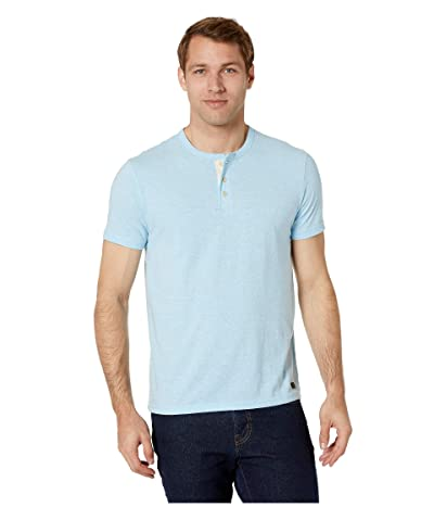 Lucky Brand Henley Tri-Blend Tee (Light Blue) Men