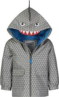 Boys' Critter Rainslicker Lightweight Rain Jacket, Grey...
