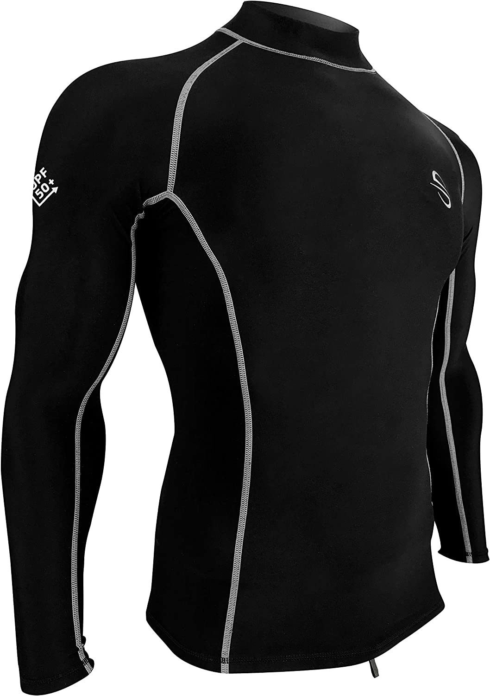 Platinum Sun Unisex Thermal Shirt for Men & Women Long-Sleeve Rash Guard, Fleece Lining UPF50