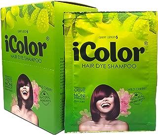 iColor Hair Dye Shampoo Wild Cherry 25ml (0.85 Oz) X 10 sachet in a box, hair color, dye