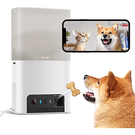 Petcube Bites 2 Lite Interactive WiFi Pet Monitoring Camera with Phone App and Treat Dispenser, 1080p HD Video, Night Vision, Two-Way Audio, Sound and Motion Alerts, Cat and Dog Monitor