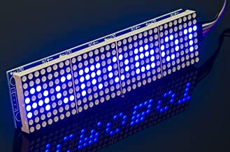 ACROBOTIC 8×32 Pixel LED Dot Matrix LED MAX7219, BLUE, 5V, 5-Pin Connector and Wire Included