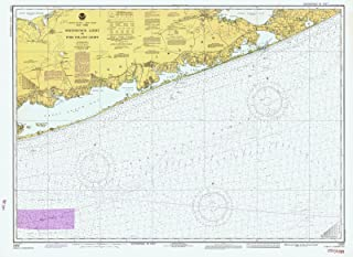 Map - Shinnecock Light To Fire Island Light, 1981 Nautical NOAA Chart - New York (NY) - Vintage Wall Art - 61in x 44in
