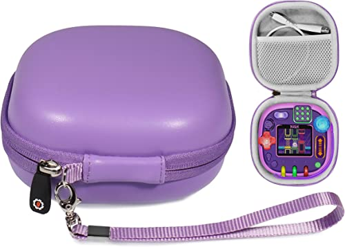 2021 getgear Tailor Made lowest Protective case for Leapfrog Rockit Twist Handheld Learning Game System, mesh Pocket for Cord and Other Accessories, Finger Strap online sale (Purple) online