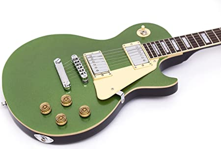 GROTE Green LP Style Metallic Paints Solid Body Electric Guitar Green Color