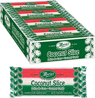 Maria's Coco Especial Coconut Slice Candy Bars (traditional Mexican-style moist coconut bars),1.65oz, 24 Count