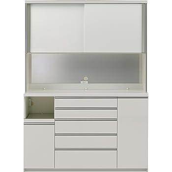 パモウナ 食器棚WG パールホワイト 幅160×高さ214×奥行50  日本製 WGL-1600R
