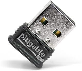 Plugable Micro Adaptador USB Bluetooth 4.0 de Baja energía (Compatible con Windows 10, 8.1, 8, 7, Linux; Compatible con Auriculares Bluetooth y estéreo)