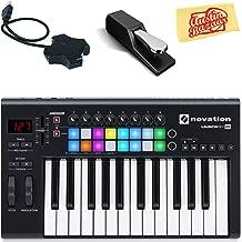 Novation Launchkey 25 Keyboard Controller Bundle with Sustain Pedal, USB Hub, and Austin Bazaar Polishing Cloth