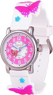 Wolfteeth Young Girls Boys Kids Children Cool Wrist Watch Time Teacher, Cartoon Character 3D Watchband 3036