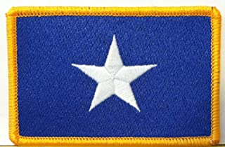 BONNIE BLUE FLAG PATCH TEXAS STAR SOUTHERN FLORIDA Iron On Patch Gold Border #08