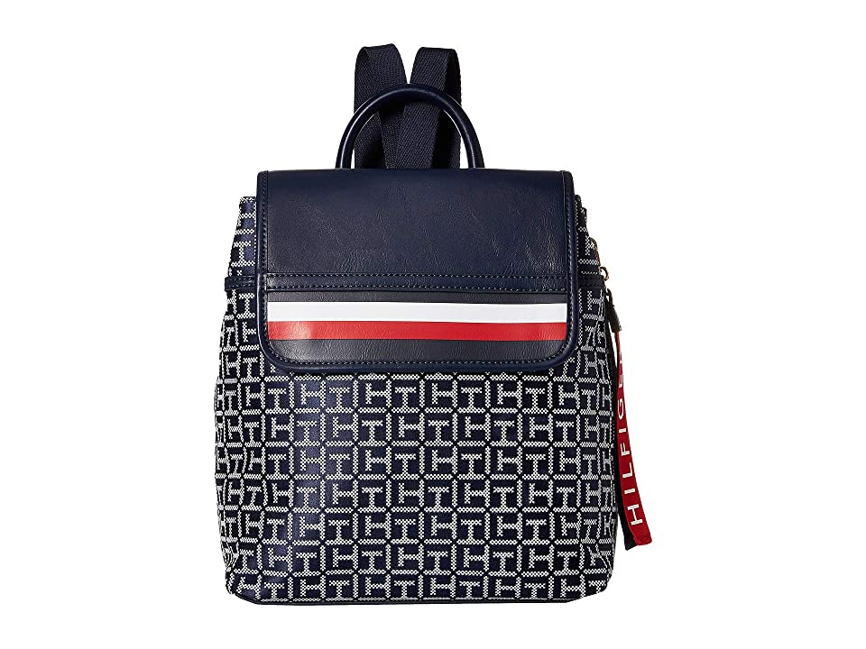 Tommy Hilfiger Gianna Backpack (Navy/White) Backpack Bags
