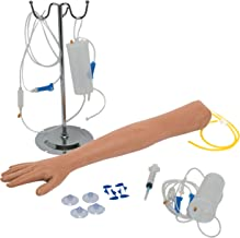 IV Practice Arm with Dark Skin - Phlebotomy and Venipuncture Practice Arm - Designed for Training and Perfecting IV + Phlebotomy + Venipuncture Procedures and Techniques - The Apprentice Doctor