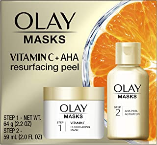 Best Olay Vitamin C Face Mask Kit, Exfoliator Kit with Mask, Silica, & Exfoliating Aha Peel 4.2 Fl Oz Review