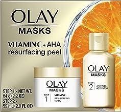 Olay Vitamin C Face Mask Kit, Exfoliator Kit with Mask, Silica, & Exfoliating Aha Peel 4.2 Fl Oz