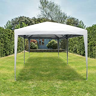 Quictent Privacy 10x20 EZ Pop Up Canopy Tent Party Tent Outdoor Event Gazebo Waterproof with Roller Bag (White)