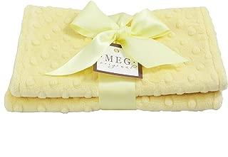 MEG Original Minky Dot Burp Cloths, Set of Two, Yellow/Yellow