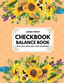 Checkbook Balance Book with 2019-2020-2021-2022 Calendars: Checkbook Registers For Personal Checkbook; Checking Account Transaction Register; 6 Column ... Personal Checking Account Balance Register