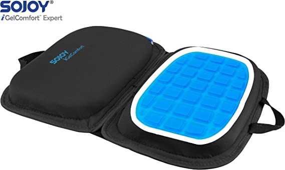 Sojoy iGelComfort 3 in 1 Foldable Gel Seat Cushion Featured with Memory Foam (A Must-Have Travel Cushion! Smart