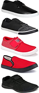 Shoefly Sports Running Shoes/Casual/Sneakers/Loafers Shoes for MenMulticolors (Combo-(5)-1219-1221-1140-748-1015)