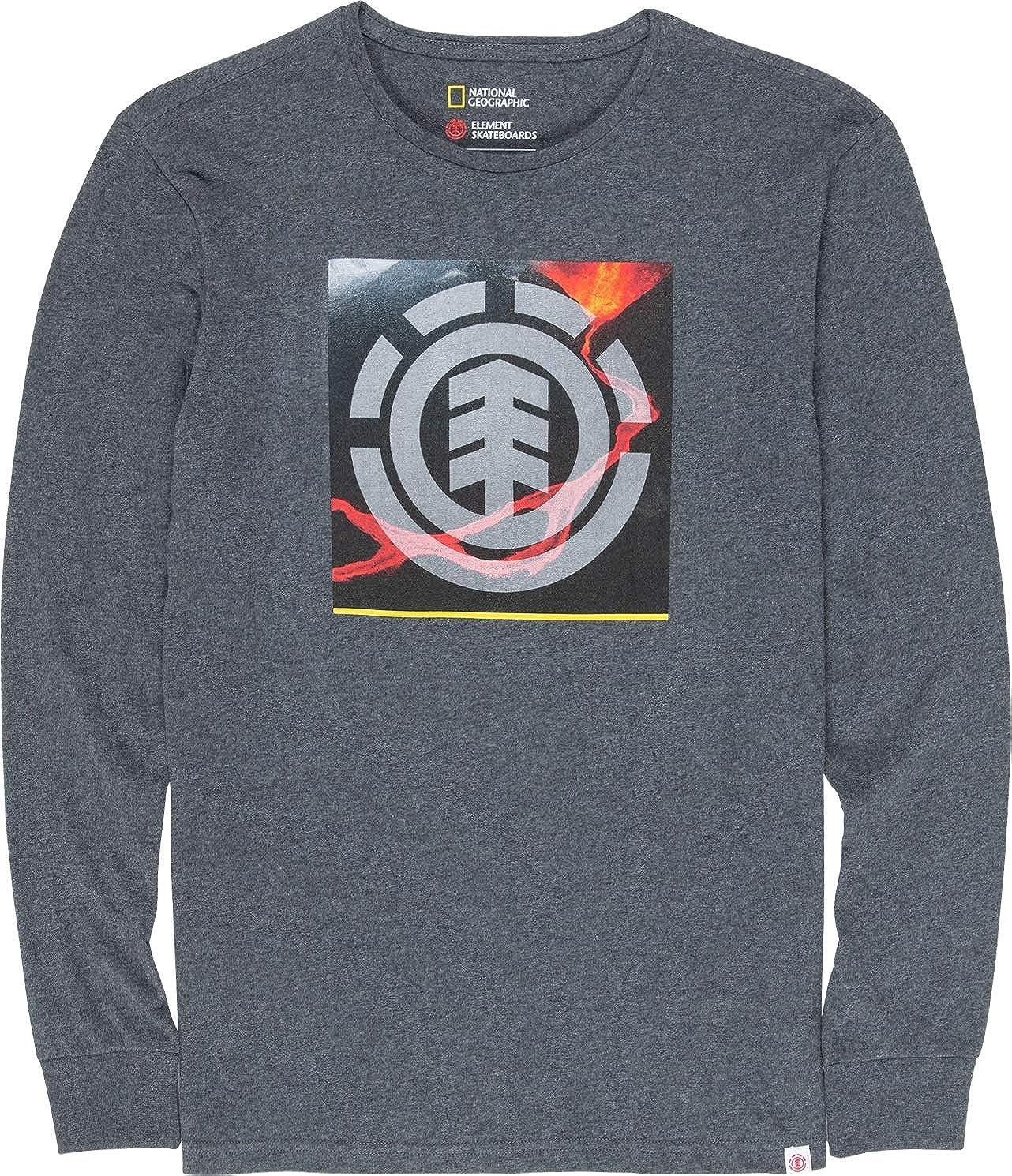 Element - Camiseta de Manga Larga - Hombre - M - Gris ...