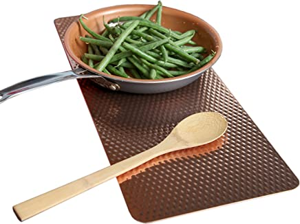 Old Home Kitchen Non Slip Insulated Counter Mat - Copper