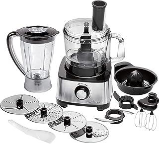 Profi Cook PC-KM 1063 kompakt matberedare m. Rostfritt stål hölje, skär knådning mixa, citruspresse-fastsättning, 1,2 l, p...