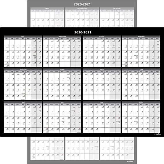 Calendario de pared grande, borrable anual, 61 x 91 cm, 2 caras reversibles vertical/horizontal, incluye cinta de montaje.: Amazon.es: Oficina y papelería