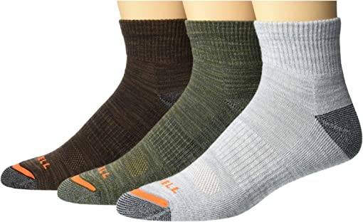 Dark Brown/Dark Grey/Light Grey/Olive Green