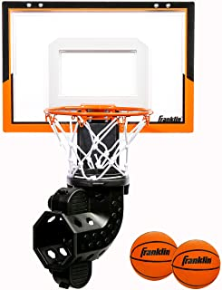 Franklin Sports Over The Door Basketball Hoop with Ball Return - Game Room Ready - Shatter Resistant - 2 Mini Basketballs ...