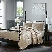 مجموعة سرير لحاف من Madison Park Signature Serene King Size - كتان، مبطن، 3 قطع من أغطية لحاف السرير - لحاف سرير من نسيج ا...