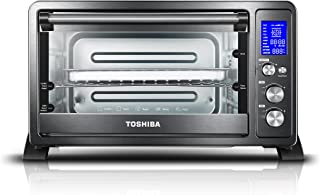 Toshiba AC25CEW-BS Digital Oven with Convection Cooking and 9 Functions, 6-Slice Bread/12-Inch Pizza, 25L, 1500W, Black Stainless Steel