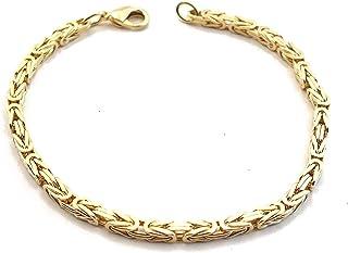 BRACCIALE GRUMETTA oro doublé o dorato uomo donna gioielli regalo cavigliera