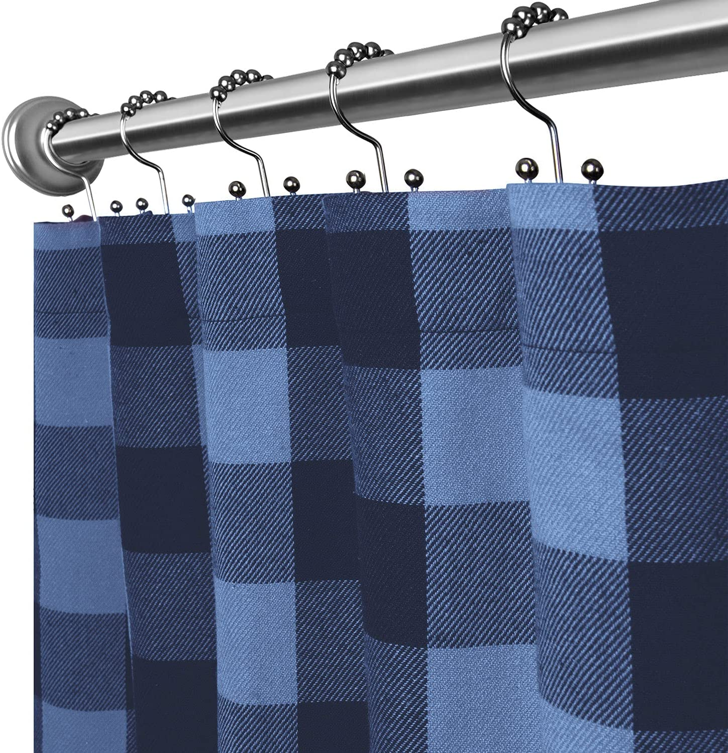 Ranking TOP1 Cackleberry Home Navy and cheap Sky Buffalo Shower Blue Curtain Check