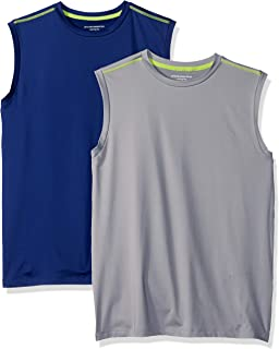Amazon Essentials Boys' 2-Pack Active Muscle Tank Bambino, Pacco da 2