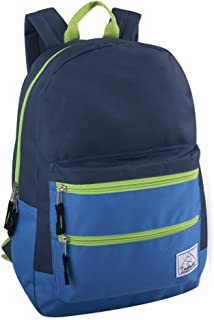 Multi-Color Back Pack with Adjustable Padded Shoulder (Navy)