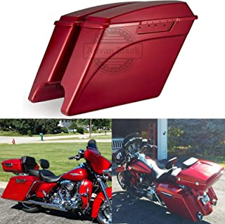 Ember Red Sunglo 4 1/2 inch Stretched Extended Saddlebags Fit for Harley Touring Road Glide Street Glide Road King Electra Glide 1994-2013