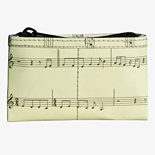 Zip Coin Purse Made From Musical Note Sheet Prime gift for musicians piano violin player teacher pianist violinist dancer choir singer music scores small present singing mom mother sister daughter boy