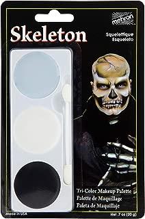 Mehron Makeup Tri-Color Halloween Makeup Palette (Skeleton)