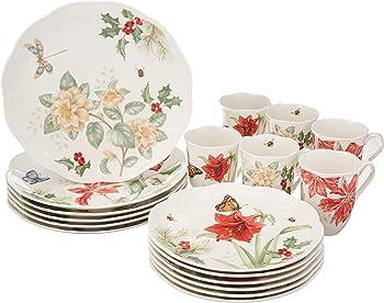 Lenox Butterfly Meadow Holiday 18 Piece Dinnerware Set