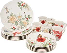 Lenox 880091 Butterfly Meadow 18-Piece Holiday Dinnerware Set