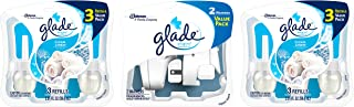 Glade PlugIns Scented Oil Starter Kit, Plug In Air Freshener and Refills, Clean Linen, 2 Warmers + 6 Refills, 4.02 Fl. Oz, Pack of 6
