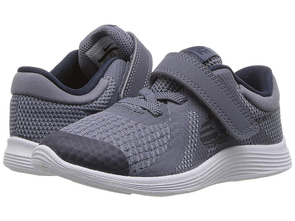 Nike Kids Revolution 4 (Infant/Toddler) (Light Carbon/Obsidian/Thunder Blue/White) Boys Shoes