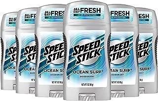 Speed Stick Deodorant for Men, Ocean Surf - 3 Ounce (6 Pack)
