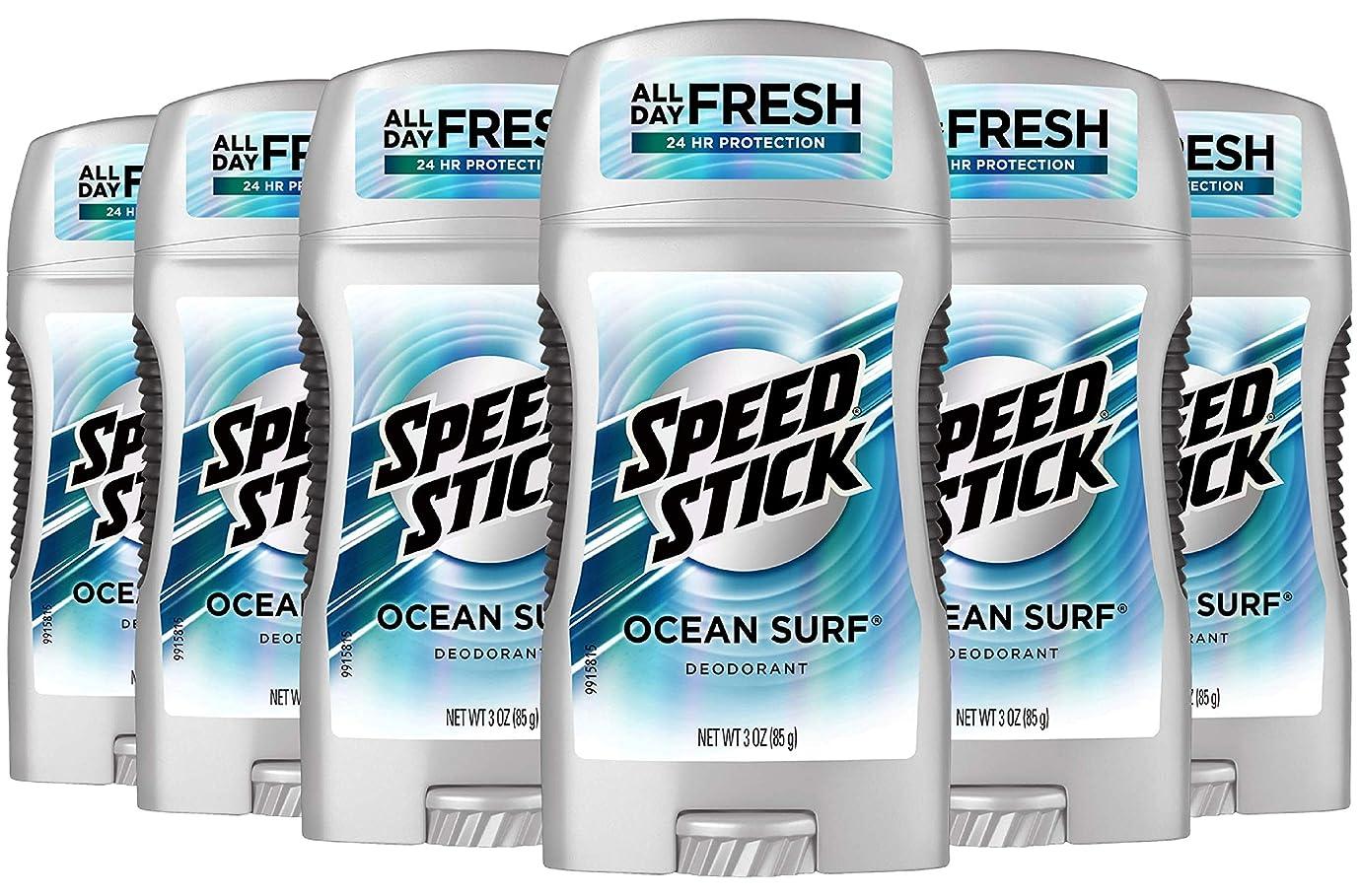 大脳農奴手順Speed Stick Deodorant, Ocean Surf 88 ml (Pack of 6) (並行輸入品)