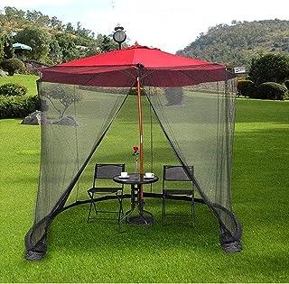 Outdoor Portable Garden Mosquito Coaster Coaster Waterproof Polyester Fiber Patio Umbrella Covers for Parasol or Gazebot -...