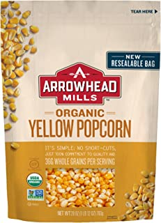 Arrowhead Mills Organic Yellow Popcorn, 28 oz. Bag (Pack of 6)