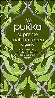 Pukka Herbs Supreme Matcha Green, Organic Herbal Green Tea with Sencha, 20 Tea Bags(Pack of 1)
